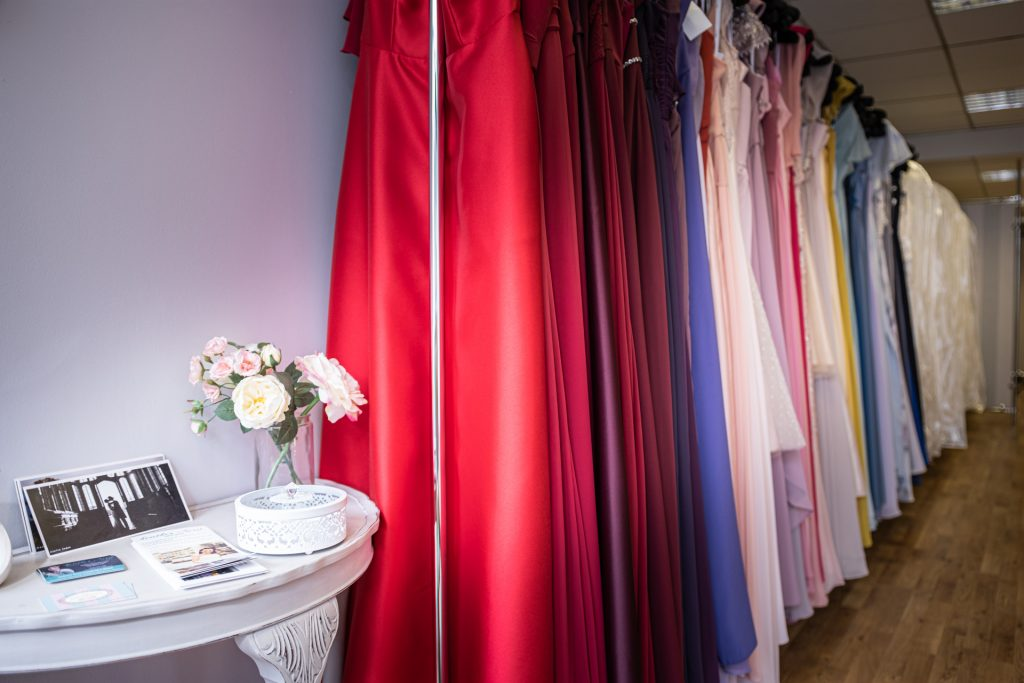 Bridesmaids dresses - array of colours and styles